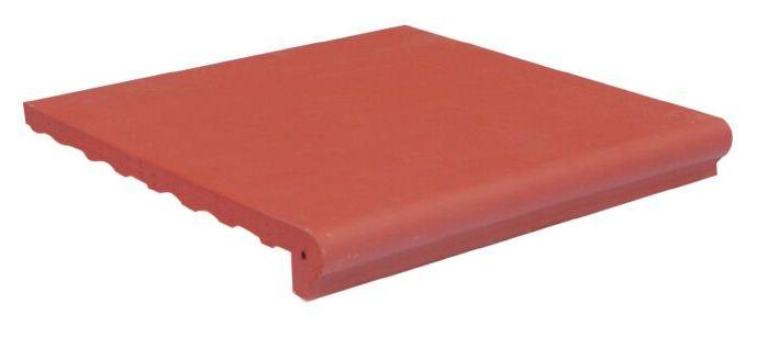 Gạch Bậc thềm 300x300 đỏ nhạt